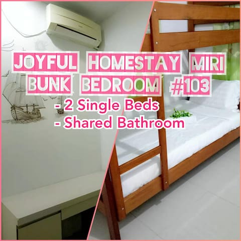 Joyful Homestay Miri Bunk Bedroom #103