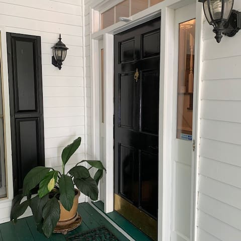 Front entrance with keypad code for access any time.