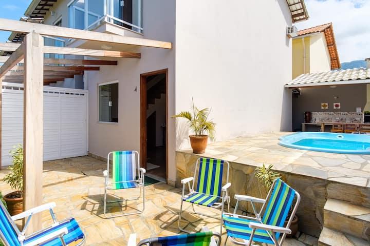 Linda casa com piscina e Wi-Fi (Jabaquara) Paraty