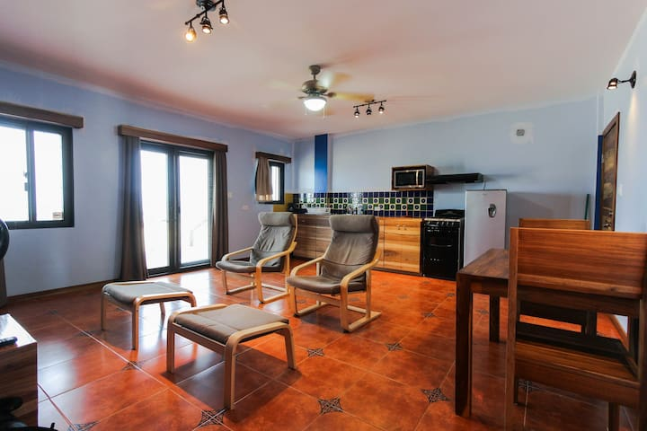 Colorful, oceanfront apartment w/ easy beach access - right in town!