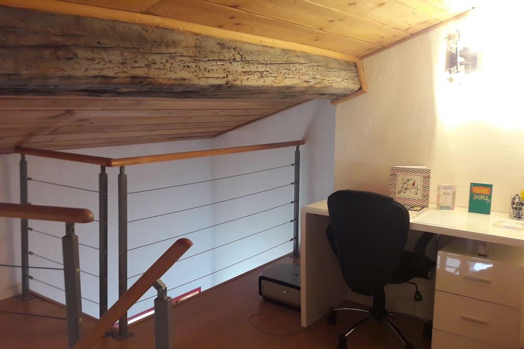 Mezzanine, espace de travail