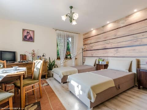 Duży pokój 1-2 os.(Ok.20m kw) z prywatną łazienką