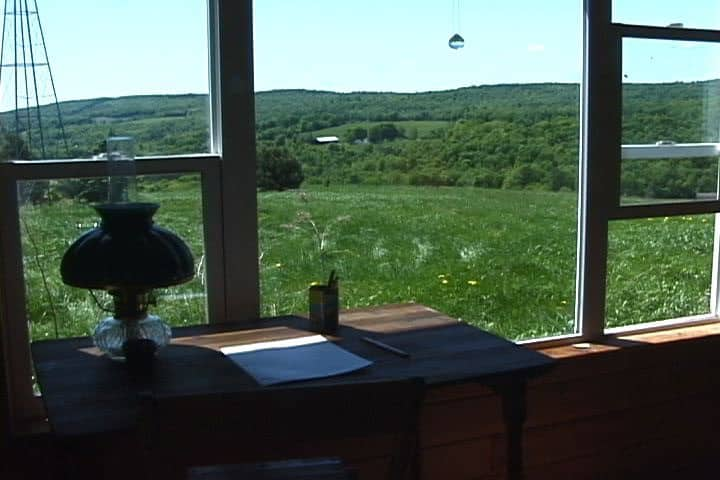 Hilltop Writer's Cabin with Water Pumping Windmill