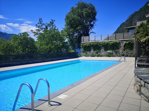 Monolocale 2 laghi, cozy apartment with pool