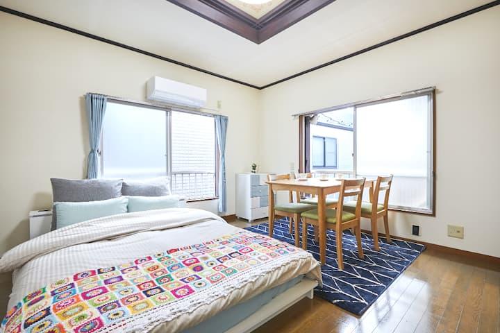 2F Retro/Cute house Kamata, 9min Haneda airpt WiFi
