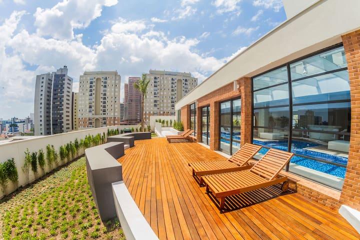 i062A- Cozy Home, 2 Quartos e Varanda Gourmet