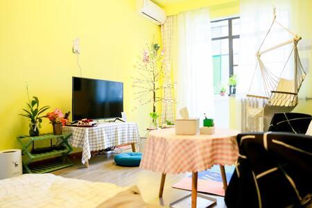 【金城·初心】(壹号)西关什字/张掖路步行街/小吃街/黄河边/地铁口交通便利,一室一厅一卫60平米