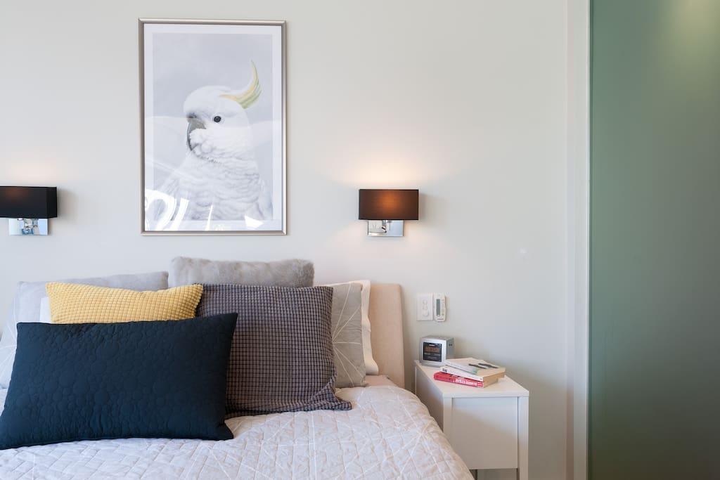 Control lighting and heating/ airc con from the bed side