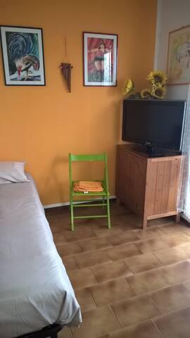 La camera singola con tv.