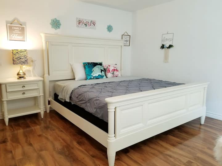 LARGE MASTER BED ROOM WITH PRIVATE ENTRANCE & BATH