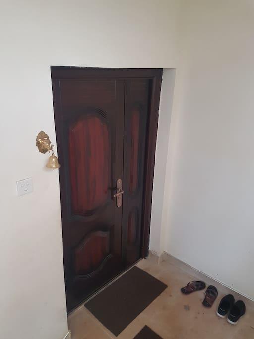 Main Door to the 1st Floor Apartment