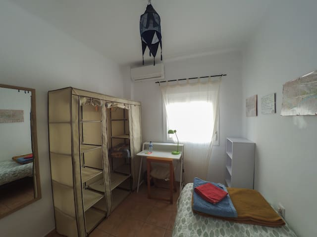 Single room in center + free bike