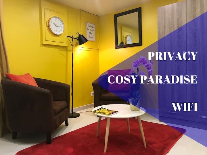 🕊️  Cosy Paradise - APPARTEMENT DÉSINFECTÉ