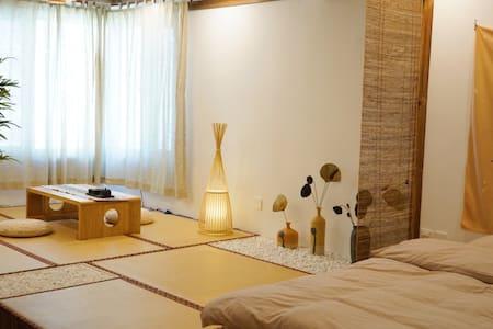 【逸休·room6】日式和风近海公寓、近燕大/新澳海底世界/小吃街、可做饭