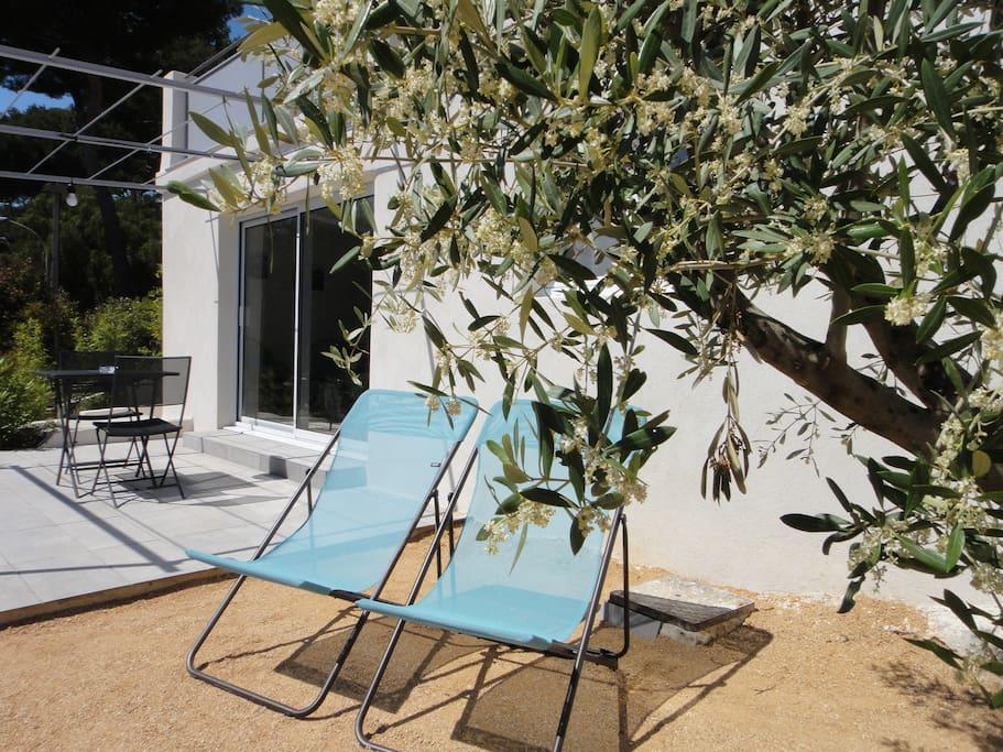 Les transats de l'appartement Turquoise - Maison Méditerranée - Home Cassis