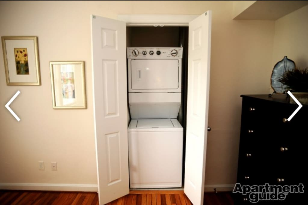 Complimentry washer and dryer