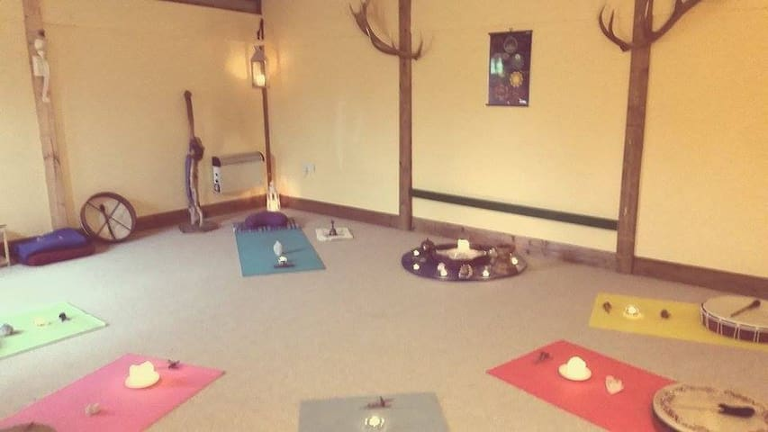 There is an optional free morning yoga class between 8 & 9