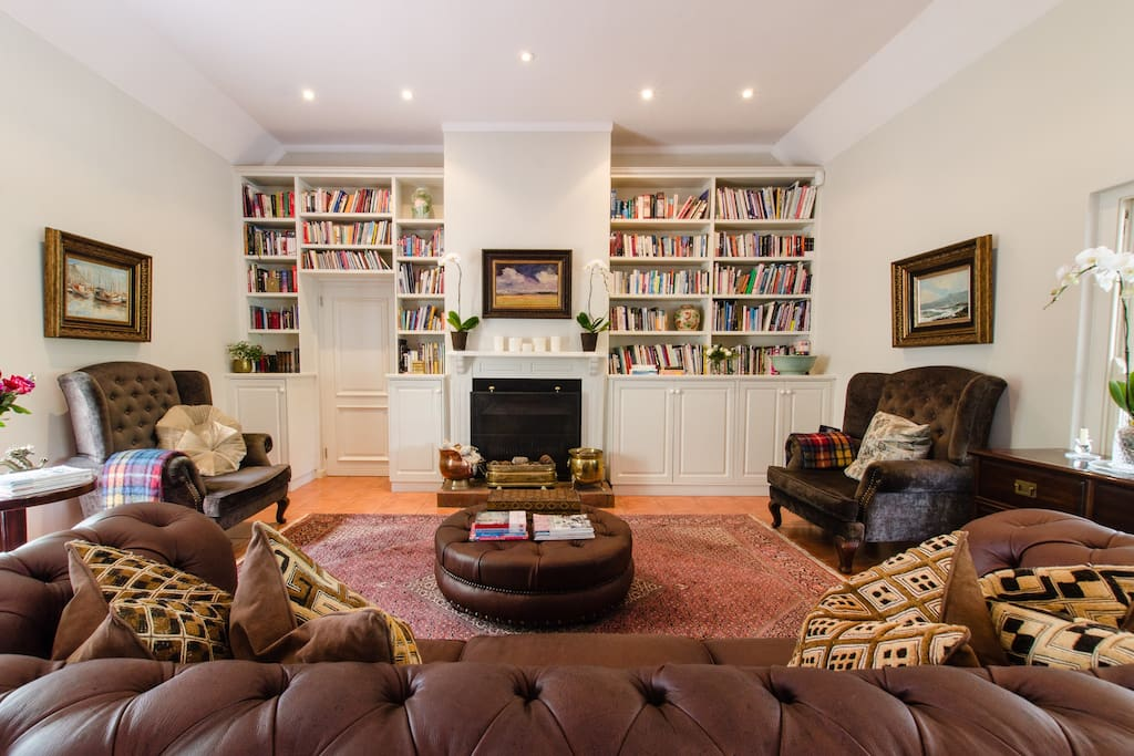 Sitting room with open fire place