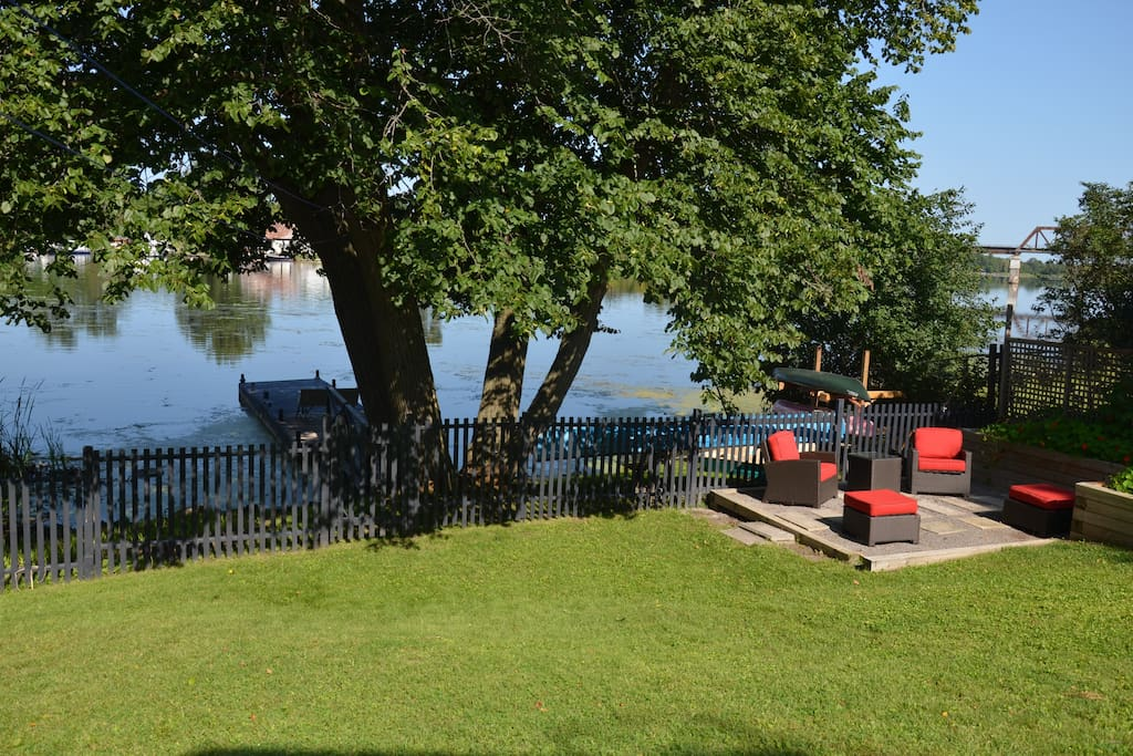 What a view! Sit back and relax in our beautiful backyard.