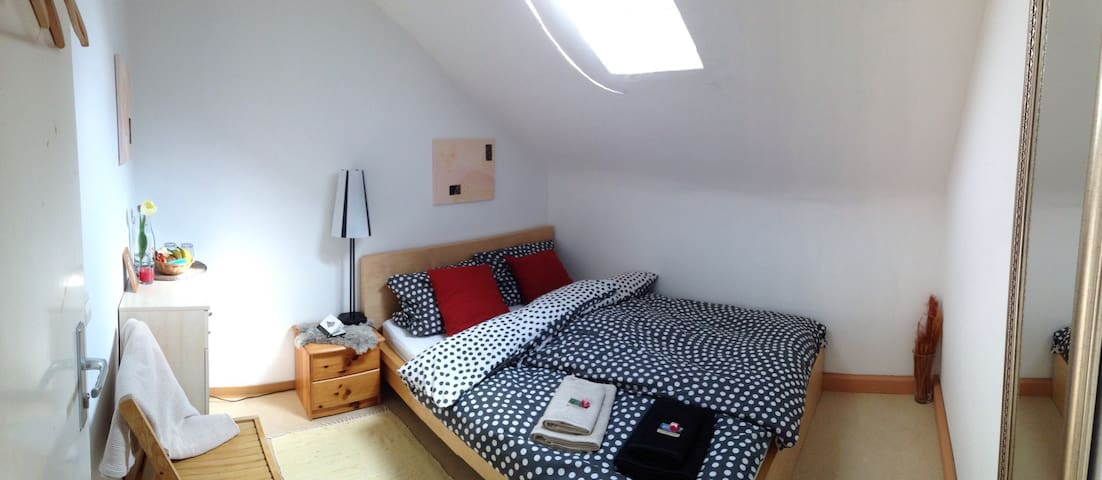 Private, cozy, bright room for 2 in a quiet area - Ludwigsburg - Apartamento
