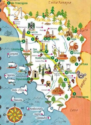 Esplorare la Toscana (da San Vivaldo)