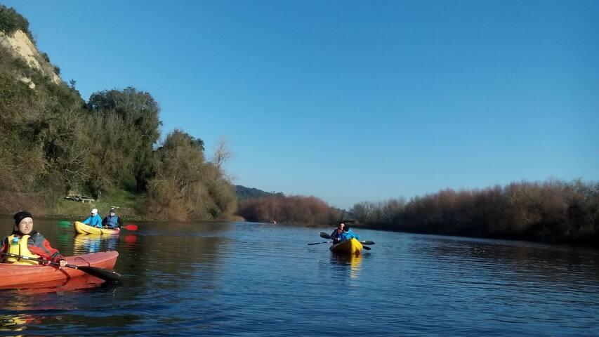 Foz do Rio Alviela no Rio Tejo 9Km