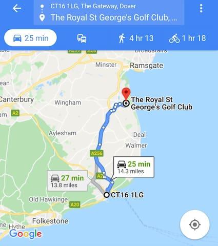 Royal George golf club. Sandwich, Kent.
