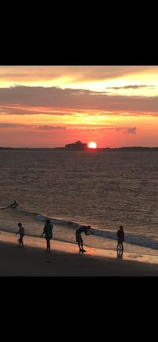 Discover Tybee's north end as a local...the sunset pic was taken from our condo balcony!