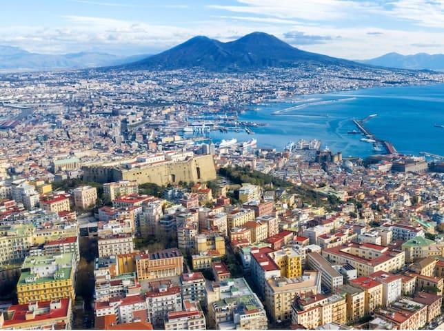 Naples around you. Museum, shop,restaurant,pizzeria, supermarket.