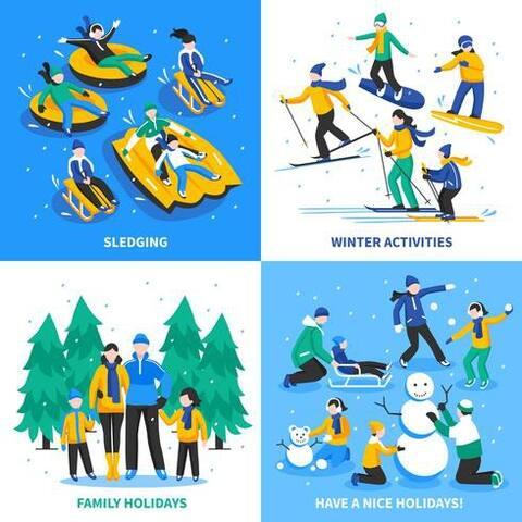Activités hivernales familiales ! Winter family activities !