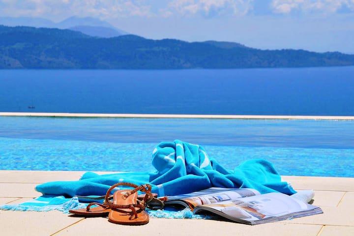 Guidebook Villa Casa del' mare, Agni bay, Corfu, Greece,