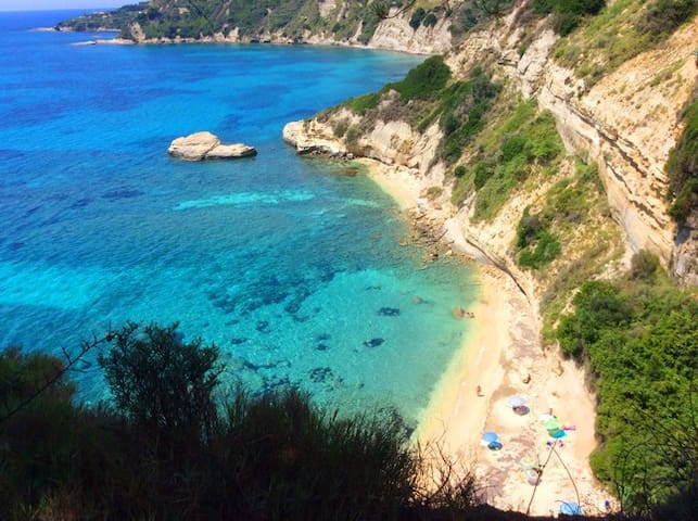 Kefalonia beaches. Cute Spartia and surroundings. Kefalonia places to visit