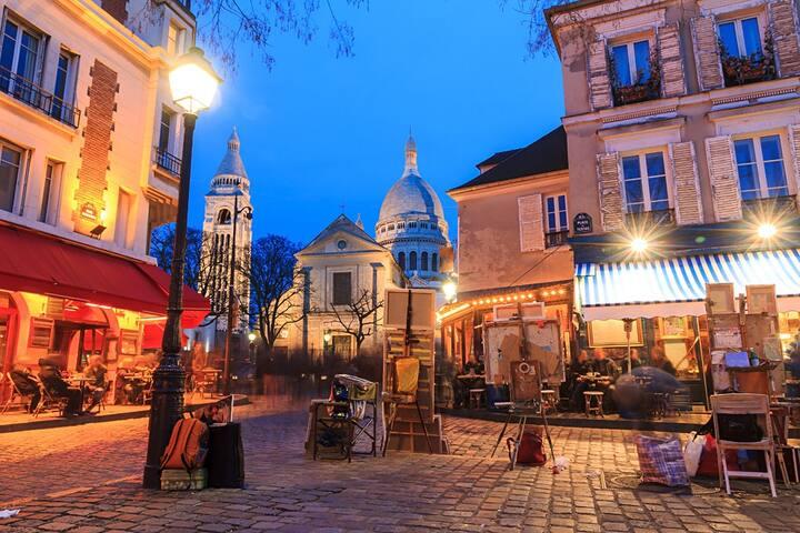 Guide autour d'un coin de paradis avec jardin à Montmartre