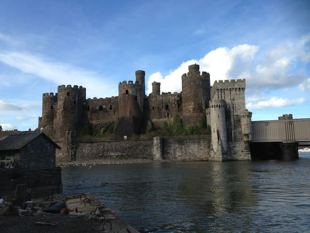 Conwy-Medieval seaside walled town  Inside advice from an Official Guide