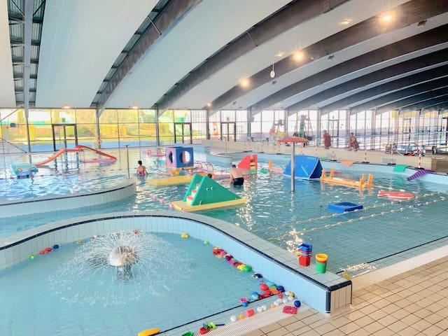 Centre Aqua ludique de la Loue à Montluçon : bassins, toboggans, plongés, spa, hamam...