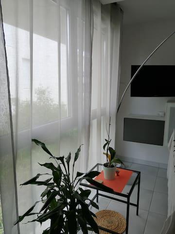 Studio moderne à Montpellier avec parking sécurisé