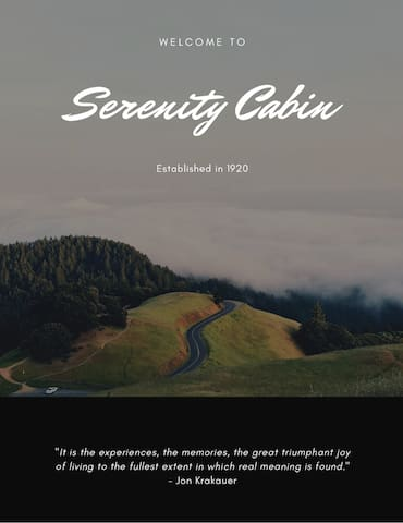 Serenity Cabin Manual