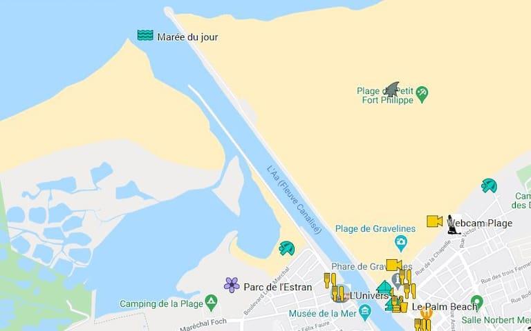 Les alentours du Gîte - consultez  www.bouteillealamer.fr/blog