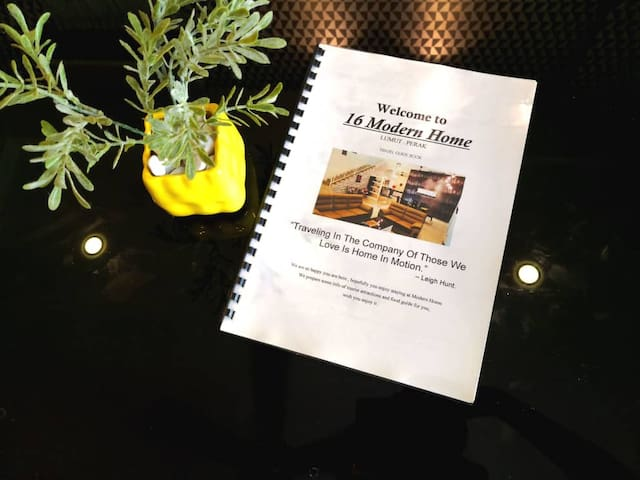 modern home  guidebook