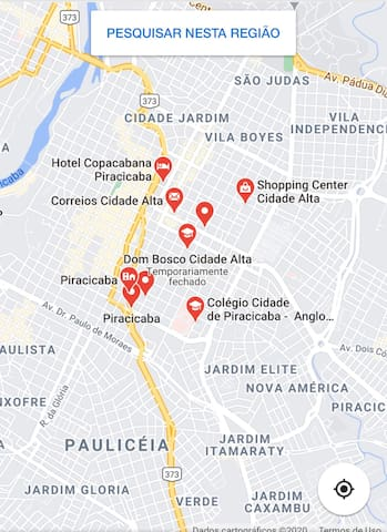 Apê  localizado na  região cidade Alta de Piracicaba