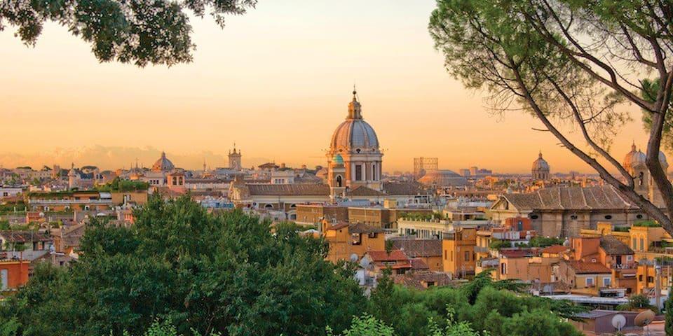 Via Flaminia In Hearth Of Rome Center
