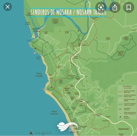 Guidebook for Playa Guiones, Nosara
