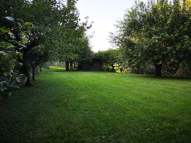 La casa di famiglia nella natura