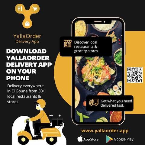 Yalla Order Delivery App in El Gouna