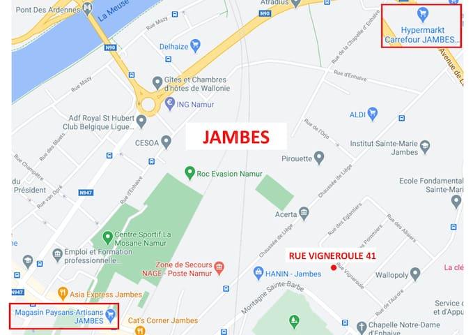 Guide d'hébergement à Jambes