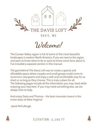 The Davis Loft Guidebook