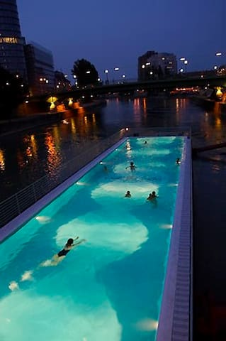 Sophie's swimming in the city guidebook