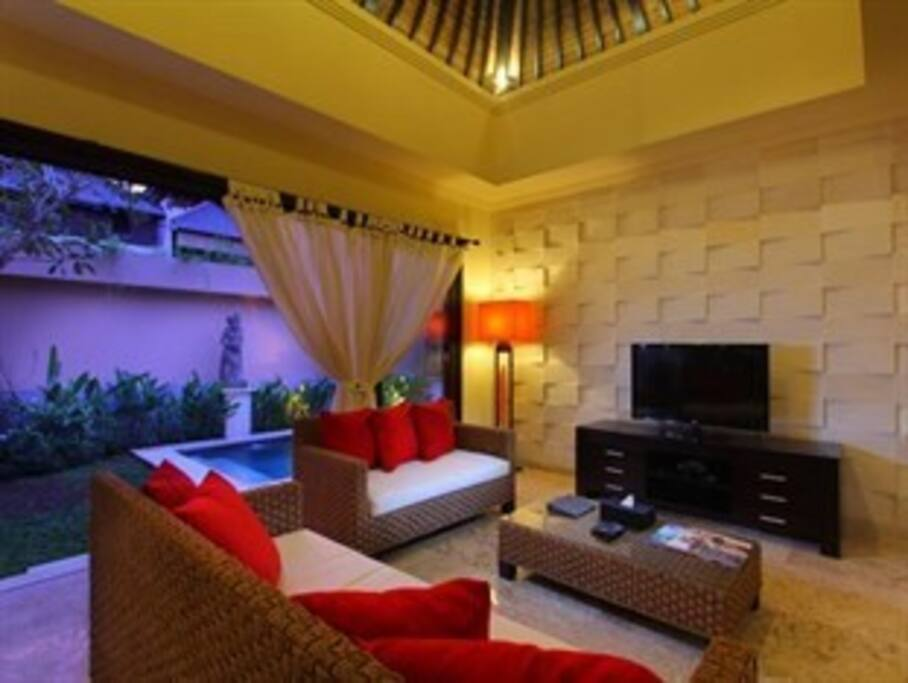 chill living room with AC