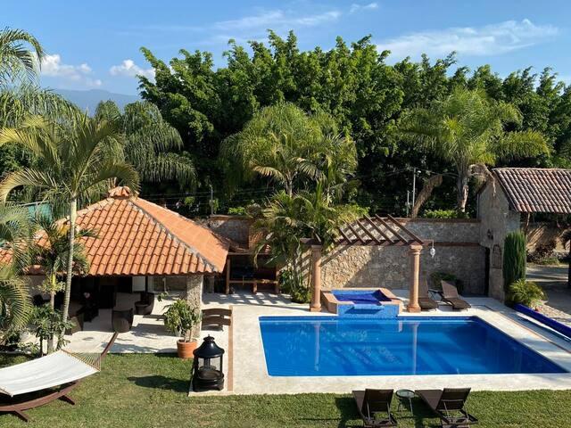 Hermosa Villa Morelos 20 pers caldera jard/eventos