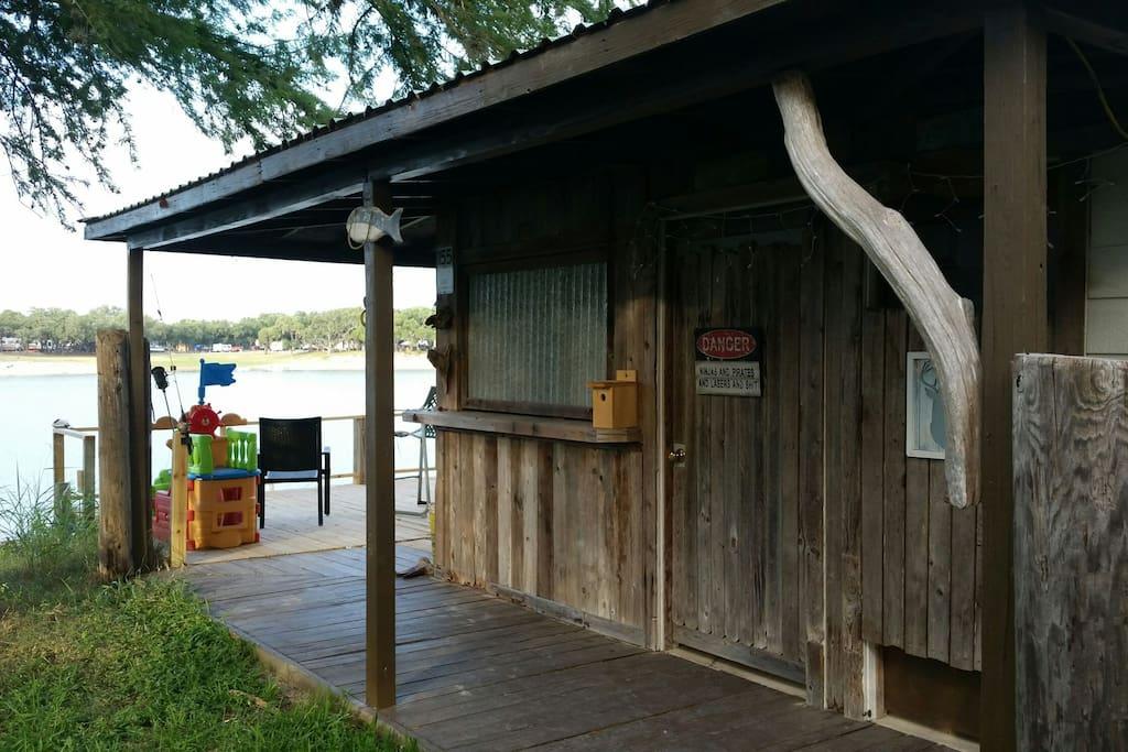 cabana and deck